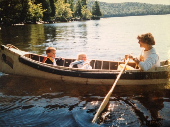 Brother, Sister, and Mother enjoy a cruise around the lake
