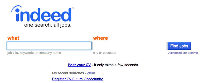 indeed cv search uk