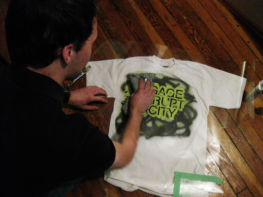 josh beginning on the second shirt