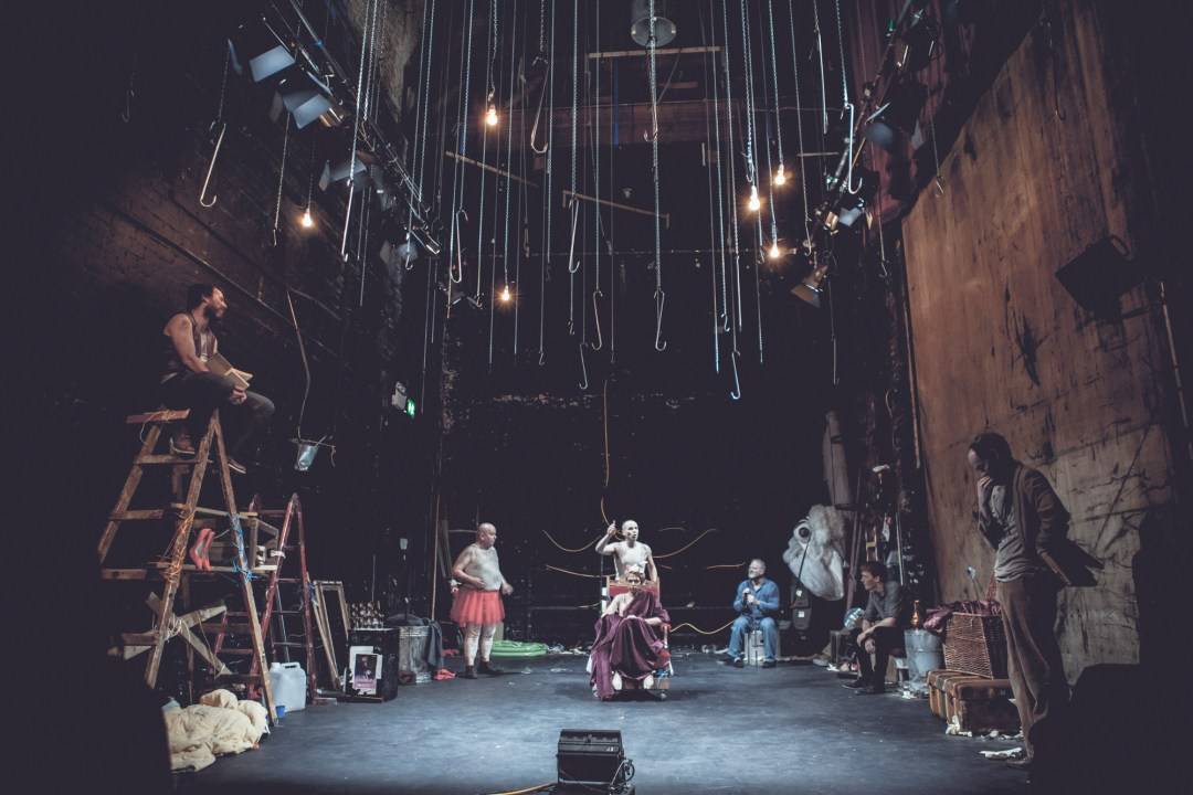 Enter Juliet by Ronan FitzGibbon. 2014 Featuring Tadhg Hickey, Eadaoin O'Donoghue, Nicholas Kavanagh, Ciaran Bermingham, Dominic Moore, Dominic MacHale and Mark D'Aughton. Photo by Enrique Carnicero