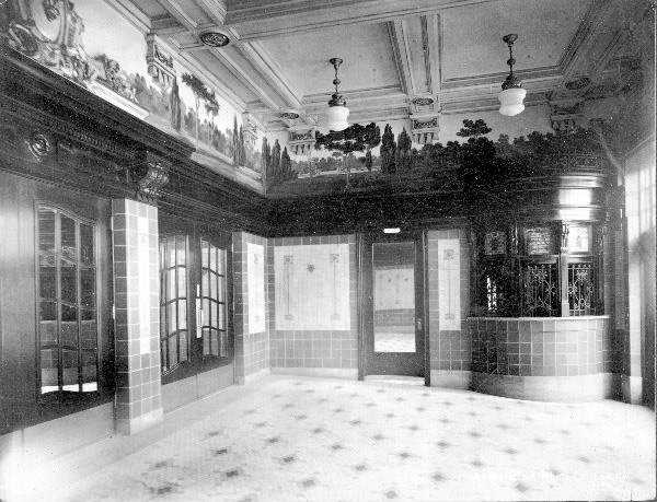 Inside the Broadway Theater lobby (from the U of L Photographic Archives)