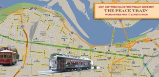 Concept route for a Market Street trolley line. (Courtesy Clarence Hixson/badwaterjournal.com)