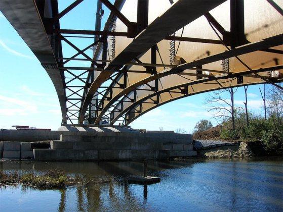 Bridge construction at the Parklands. (Courtesy Parklands)