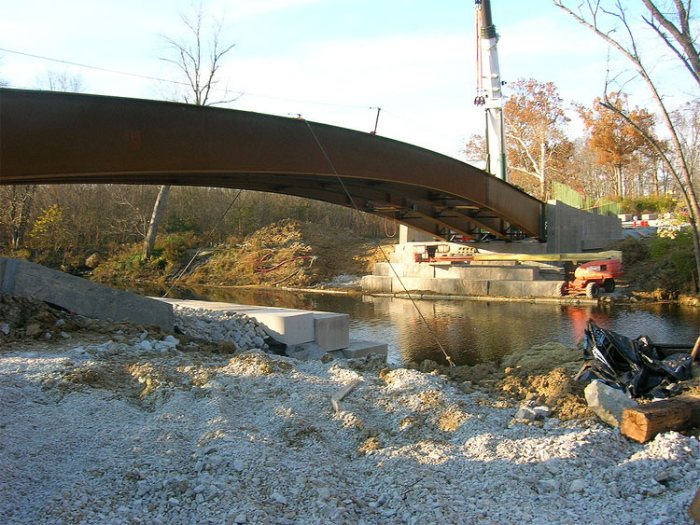 Bridge construction at the Parklands. (Courtesy Parklands)