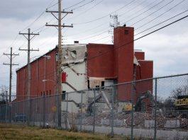 Demolition in progress. (Branden Klayko)