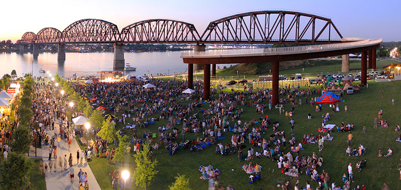 Big Four Bridge during Waterfront Wednesday. (Willie Maclean/Courtesy Waterfront Development Corporation)