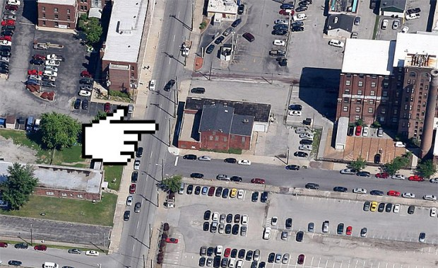 Aerial view of 721 South Preston Street. (Courtesy Google)
