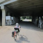 Riding into the Bradley Street entrance to the fairgrounds. (Courtesy Bicycling for Louisville)