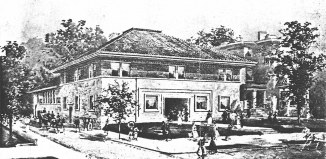 Mason Maury's rendering of the Louisville Woman's Club.
