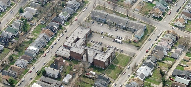 Aerial view of the school. (Courtesy Bing)