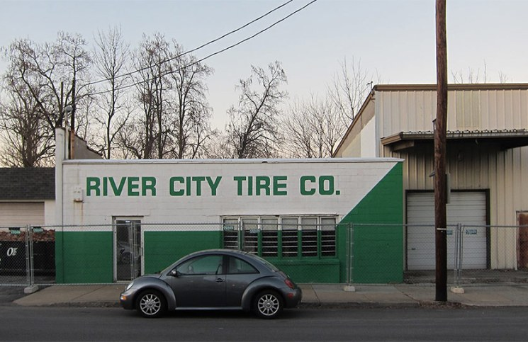 The old River City Tire on Frankfort Avenue. (Branden Klayko / Broken Sidewalk)