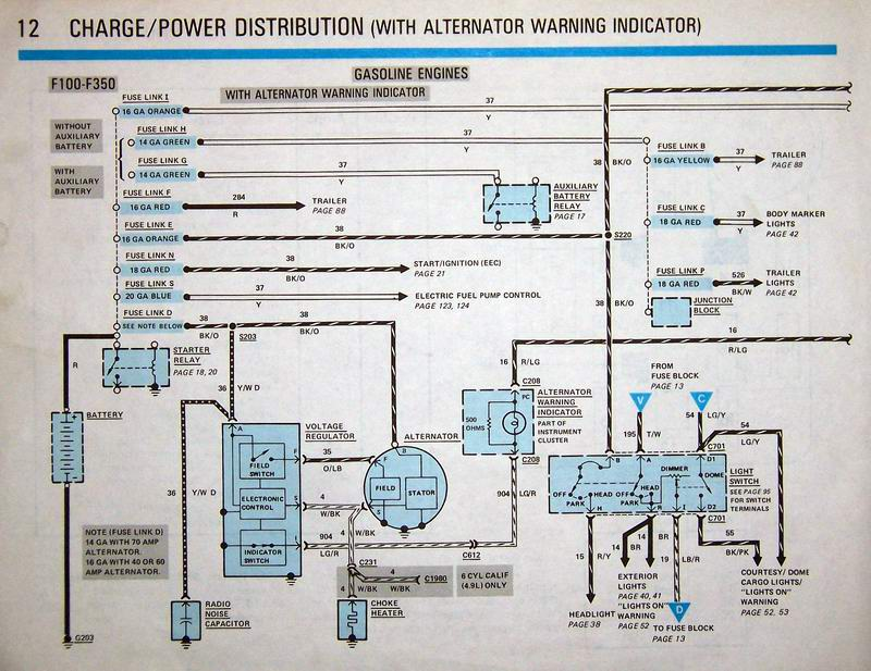Alternator Wiring Diagram 96 Ford Explorer Schematic Diagram