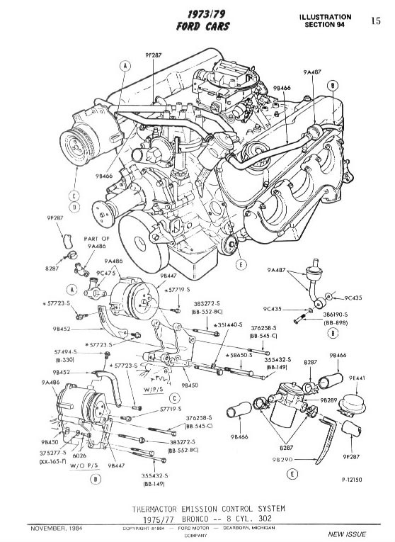 1976 bronco engine diagram