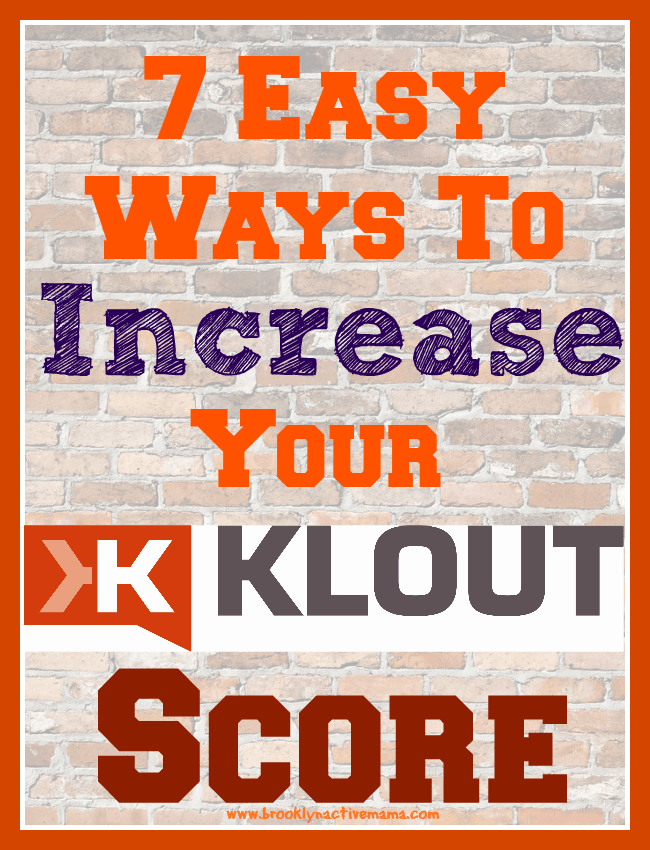 Ways to Increase your Klout Score