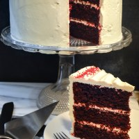 Red Velvet Cake with Ermine Icing