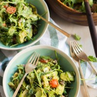 guacamole salad with jalapeno lime dressing