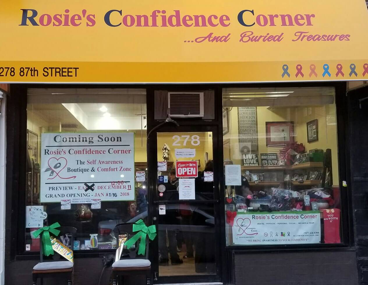 Cuisine Et Confidences Rosie S Confidence Corner Celebrates Grand Opening Of Ridge Home