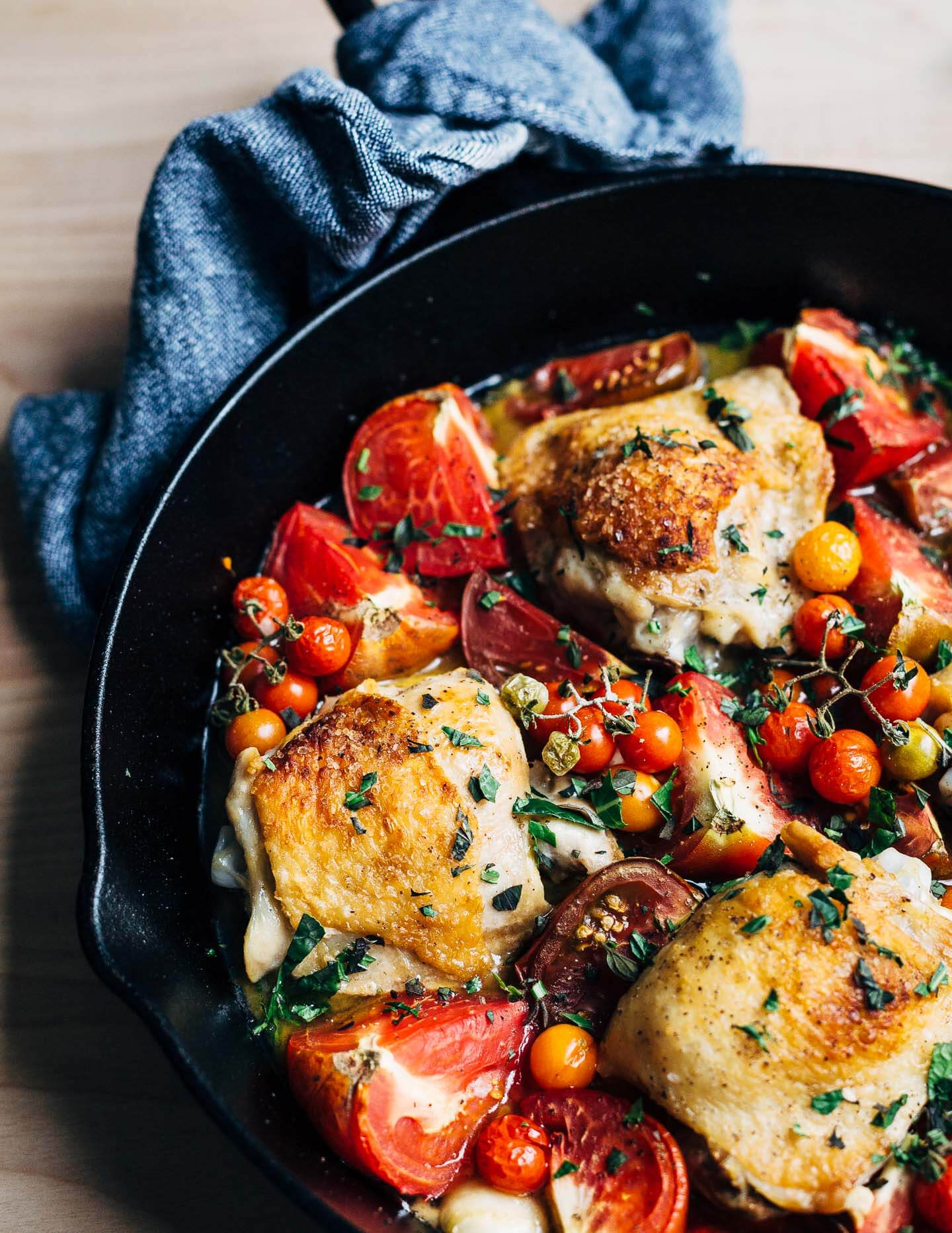 Baked Chicken With Tomatoes And Garlic Brooklyn Supper