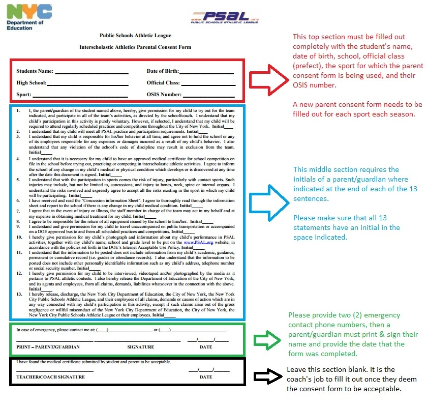 Parental Consent Form - Brooklyn Tech Track