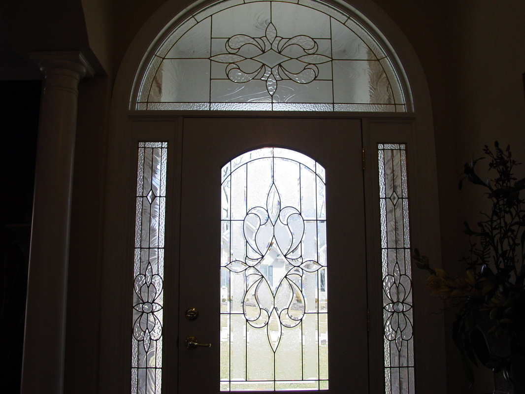 Glass Front Door Beveled Glass Front Doors Leaded Stained Glass Entry Inserts