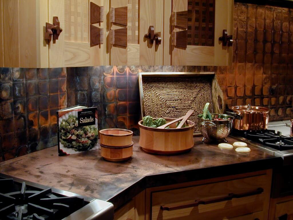 Diy Rustic Backsplash Copper Countertops Brooks Custom