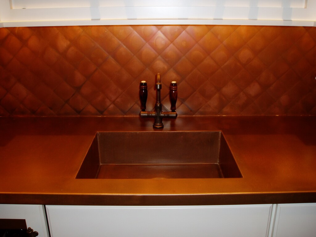 Kitchen Island Countertops Copper Countertops, Hoods, Sinks, Ranges, Panels By Brooks
