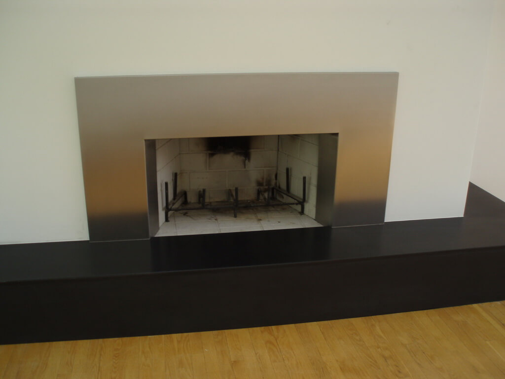Stainless Steel Fireplace Fireplace Surrounds Brooks Custom