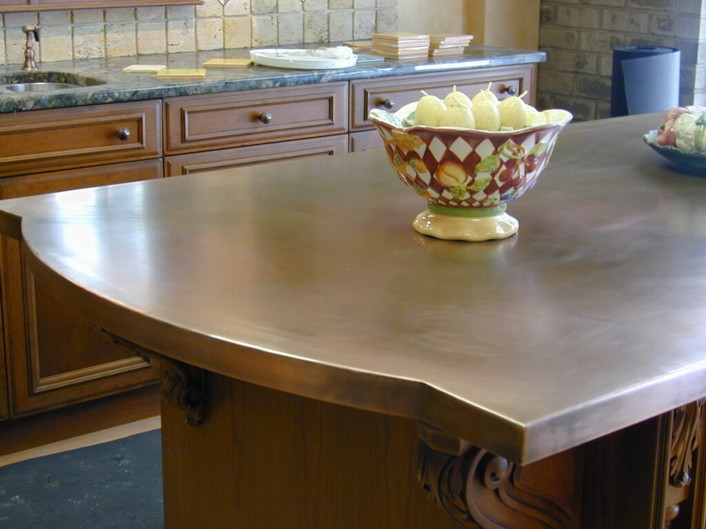 Kitchen Island With Different Countertop Brooks Custom Kitchen Countertop Gallery