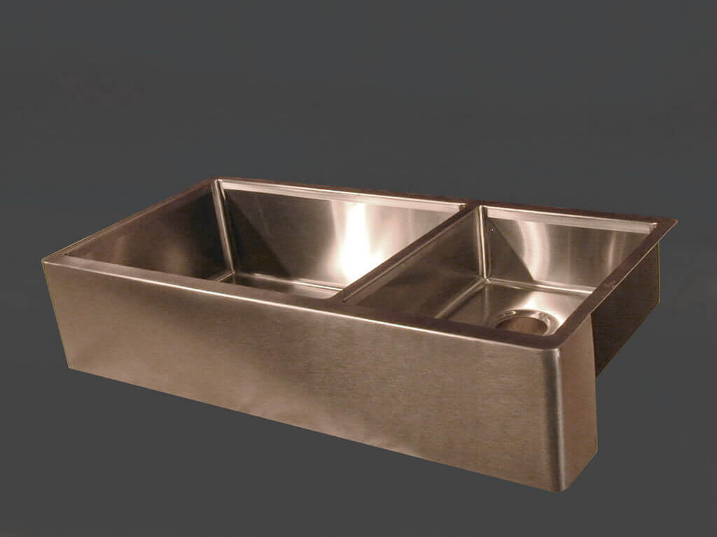 Stainless Steel Double Sink Custom Sink Portfolio Brooks Custom