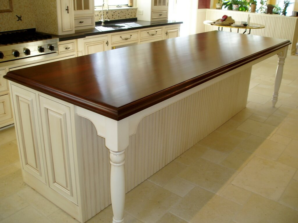 Wood Island Tops Kitchens Premium Wide Plank Wood Countertops - Brooks Custom