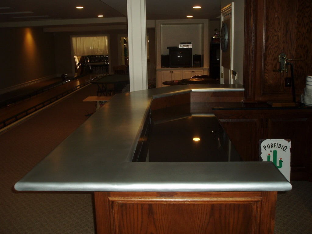 How To Clean Zinc Countertops Zinc Bar Tops Brooks Custom Zinc Products