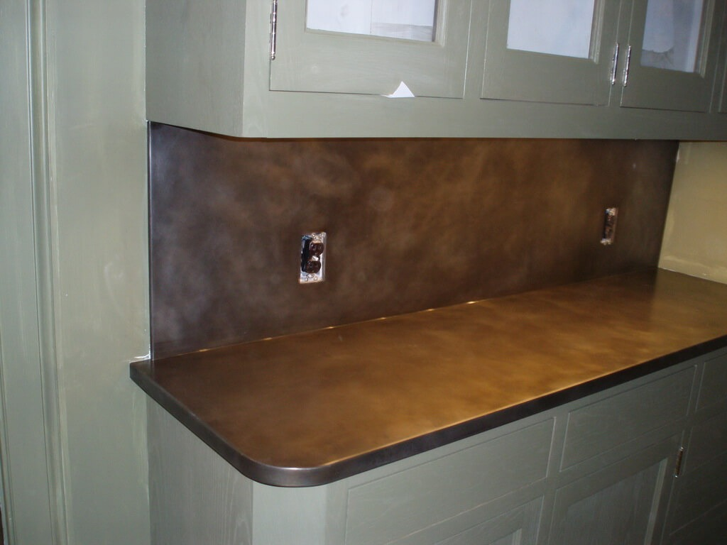 How To Clean Zinc Countertops Bronze Countertops Brooks Custom