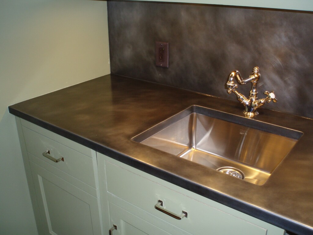 How To Clean Zinc Countertops Zinc Finish Options Brooks Custom