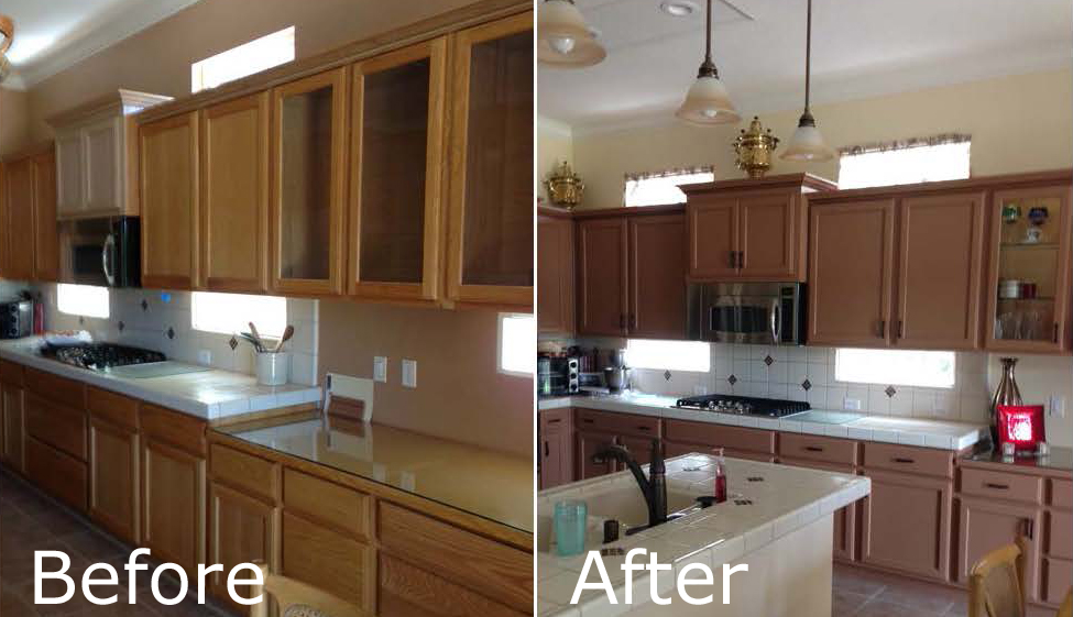 Painted Vs Stained Kitchen Cabinets Cost Difference For Refinishing, Re-facing And Replacing
