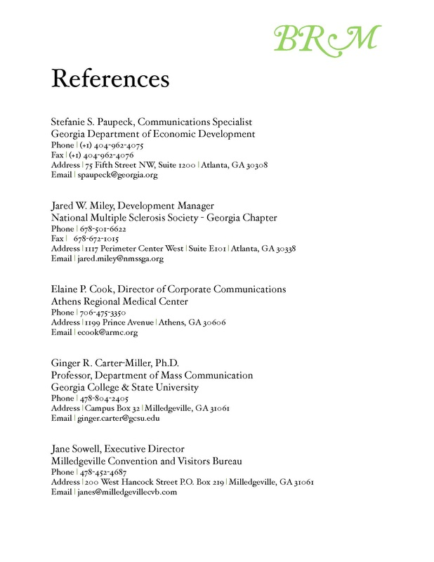 how many references should i include with my resume conclusions