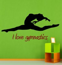 I love gymnastics Decal VERSION 2 | Wall Stickers Store ...