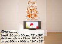 Albert Einstein e=mc2 Wall Art | Wall Stickers Store - UK ...