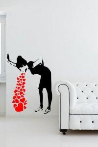 Banksy Love Sick - Iconic Graffiti Wall Sticker | Wall ...