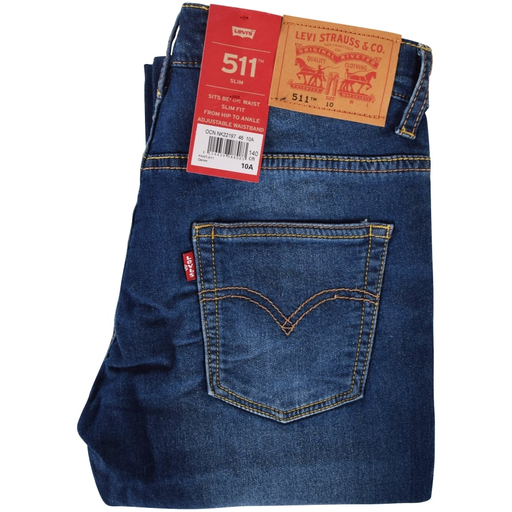 Jeans Levis Levis Junior Levis Junior Mid Wash 511 Slim Fit Jeans ...