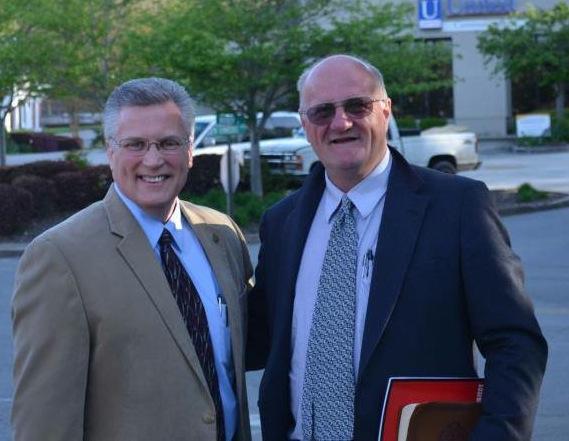 Preacher Jeff Archey with Tom Leffler