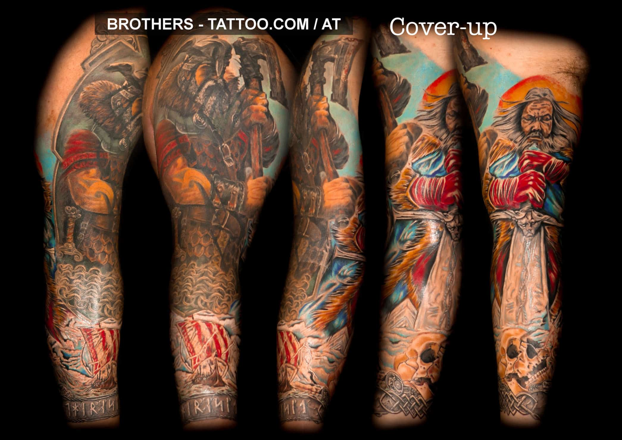 Tattoo Vorlagen Arm Komplett Cover Up Tattoo Brothers Tattoo Piercing Tattoostudio