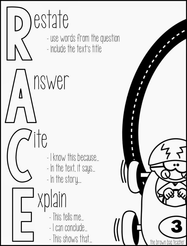 race writing strategy example