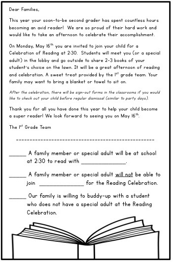Hosting A Reading Celebration - The Brown Bag Teacher