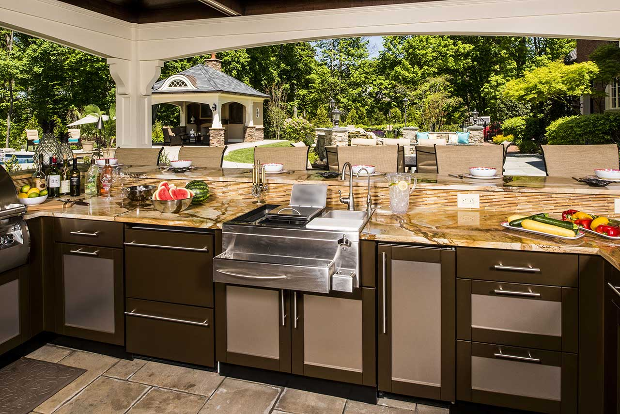Outdoor Countertops Material Outdoor Kitchen Design Ideas Brown Jordan Outdoor Kitchens
