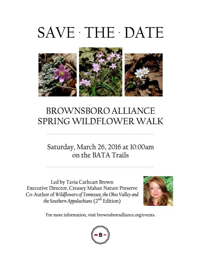 BATA Spring Wildflower Walk (Save the Date)