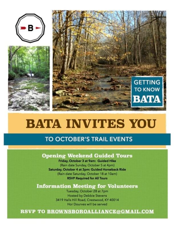 October 2014 BATA events