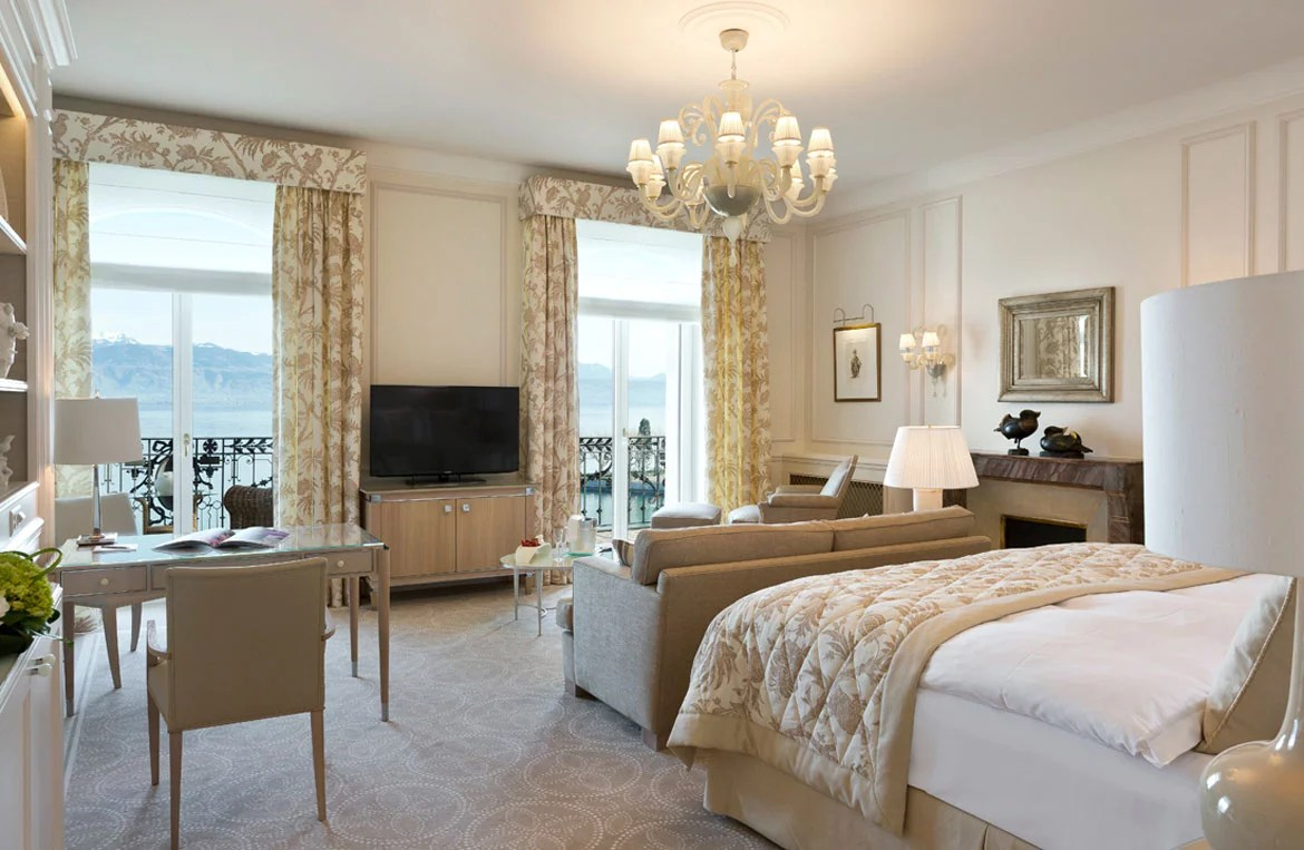 Chambre Junior Design Beau Rivage Palace Hotel 5 Star Hotel Junior Suite