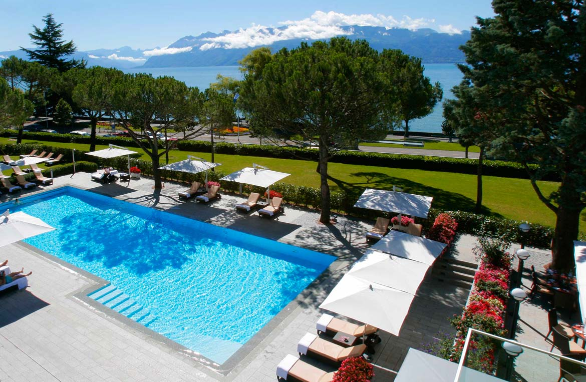 Pool Terrasse Beau Rivage Palace Hotel 5 Star Hotel Ô Terrasse Lausanne