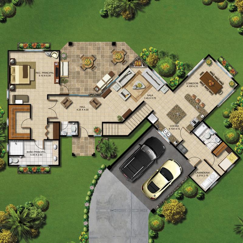 Resultado de imagen para planos casa parcelas Construyendo Mi Casa - plan de maison avec patio