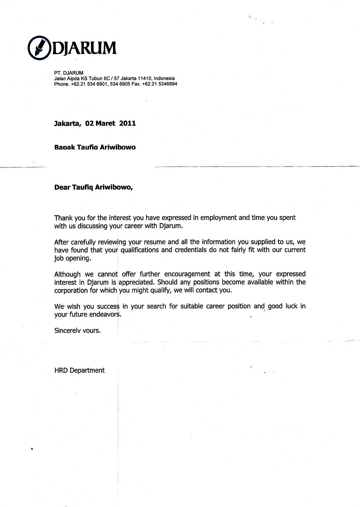 Contoh Surat Lamaran Kerja Bahasa Inggris Berikut Artinya